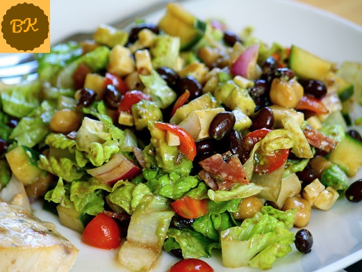Vegetable Salad with honey lemon dressing