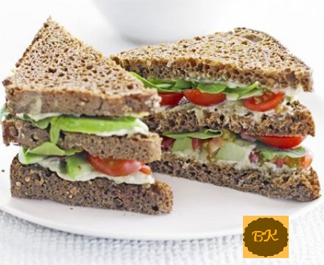 Vegetable Club Sandwich