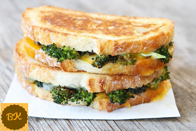 Roasted Broccoli Cheese Sandwich